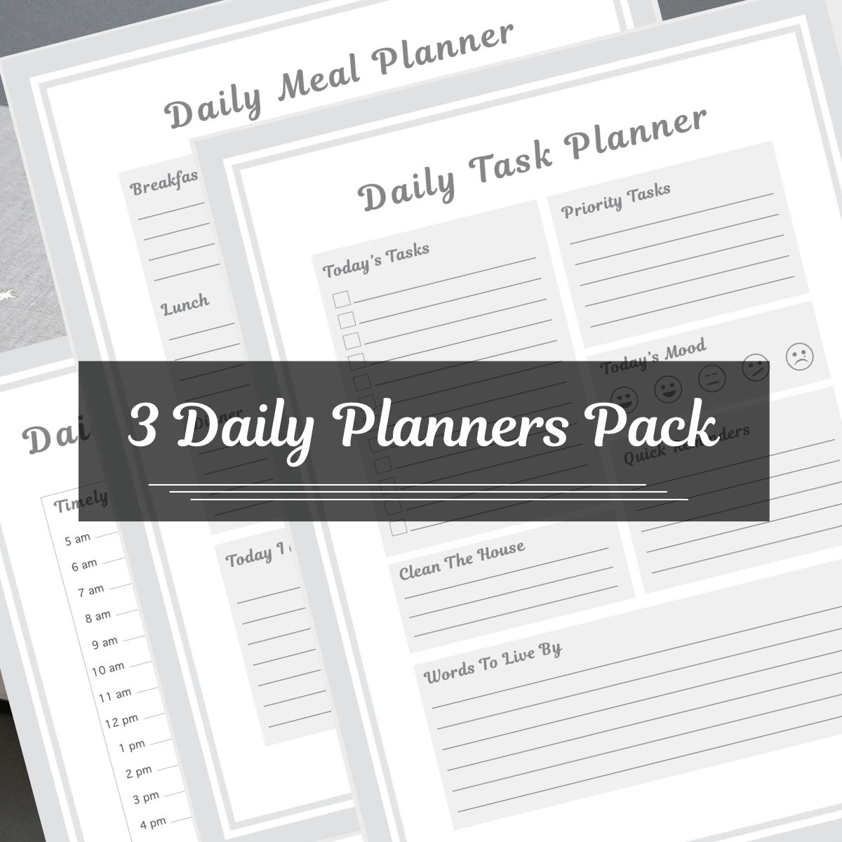 Daily planner pack