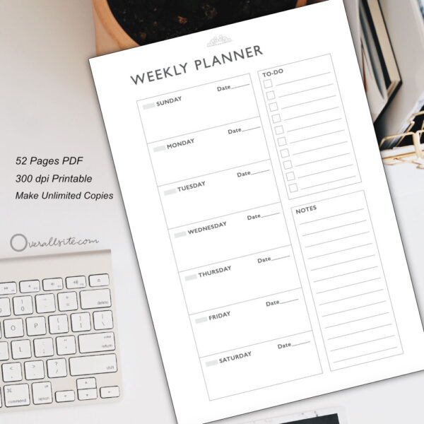 Weekly Planner Template by Overallsite